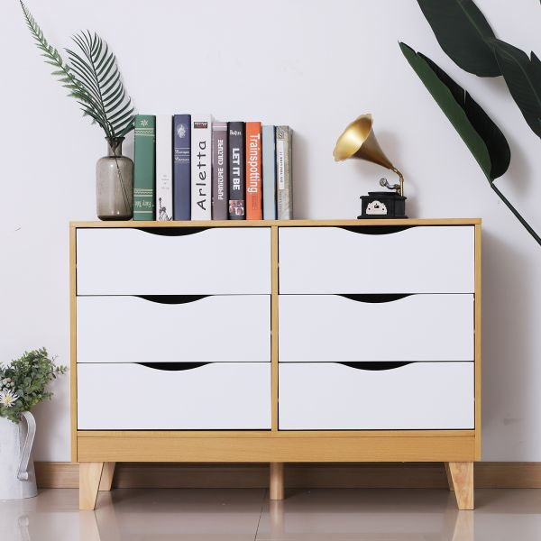 Homcom 6-Drawer Scandinavian Storage Chest