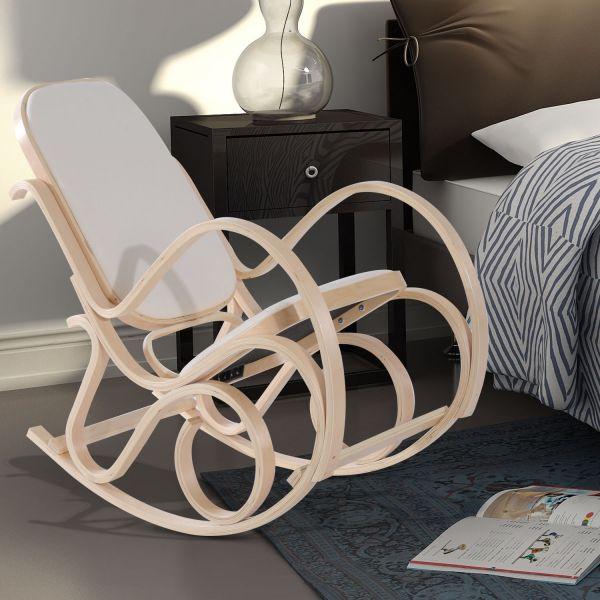 Homcom Antique Wooden Rocking Armchair