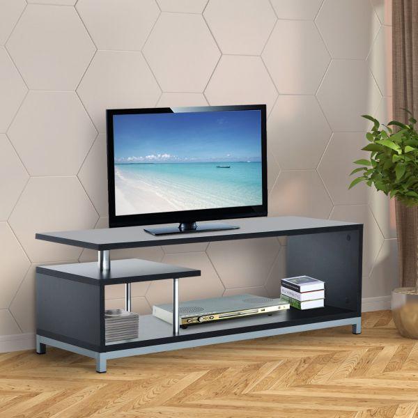Homcom Modern 2-Tier TV Cabinet Stand - Black or White