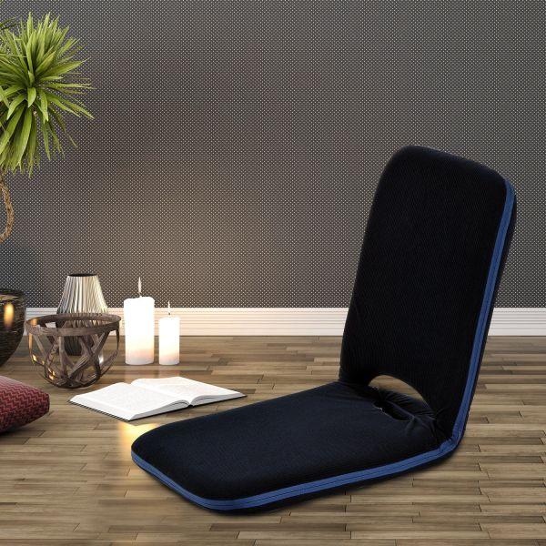 Homcom Adjustable Padded Floor Lounge Chair - Blue or Beige