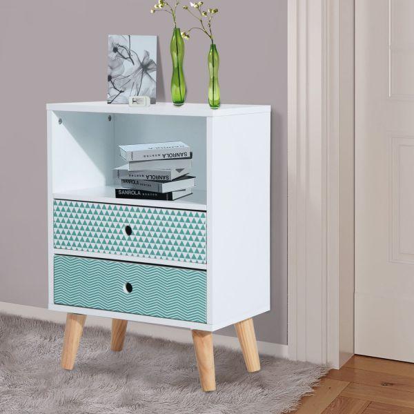 Homcom Wooden Bedroom Side Cabinet