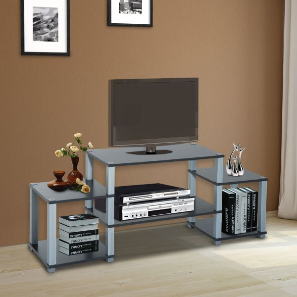 Homcom 2-Tier TV Stand Shelving Unit - Beech or Black