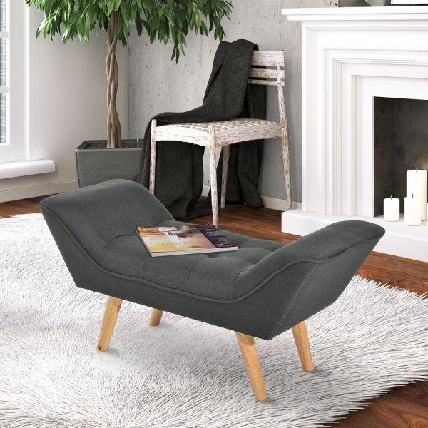Homcom Modern Lounge Ottoman in Beige or Dark Grey