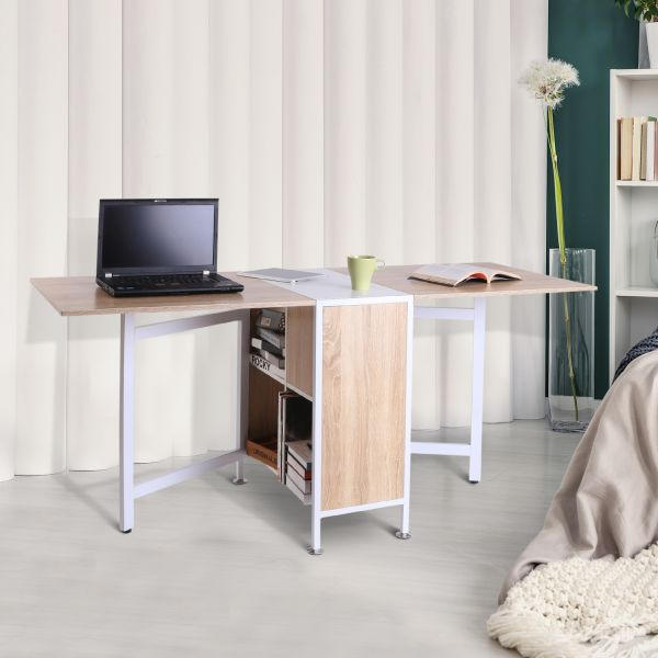 Homcom Foldable Drop Leaf Table