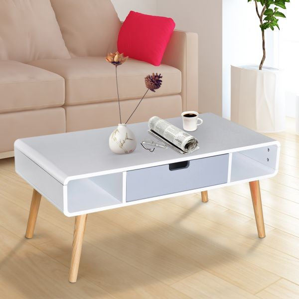 Wooden Coffee Table / TV Stand in Scandinavian Style