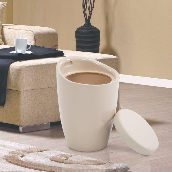 Homcom Faux Leather Ottoman Stool - Cream