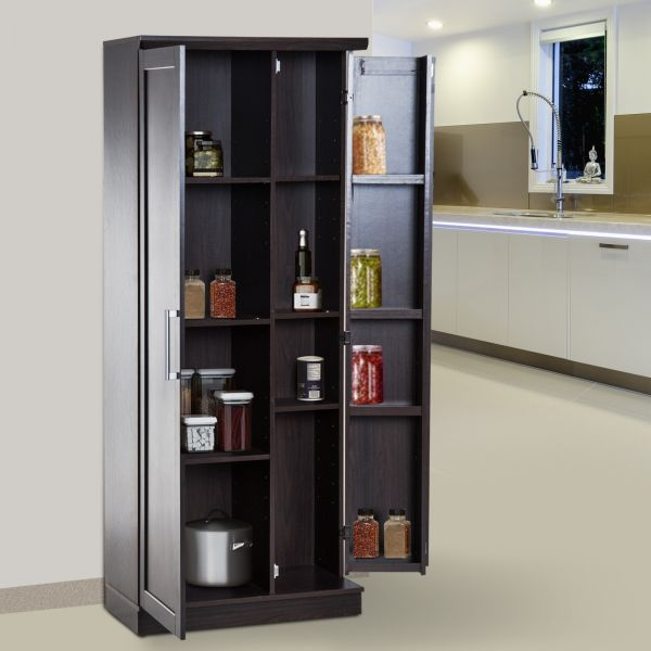 Homcom Wooden Freestanding Kitchen Pantry Cabinet