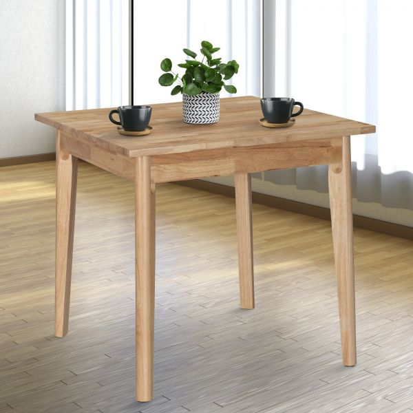 Solid Wood Square 4 Person Dining Table