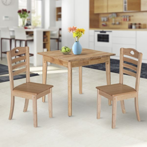 Dining Chair Set of 2 (Natural Wood Colour)