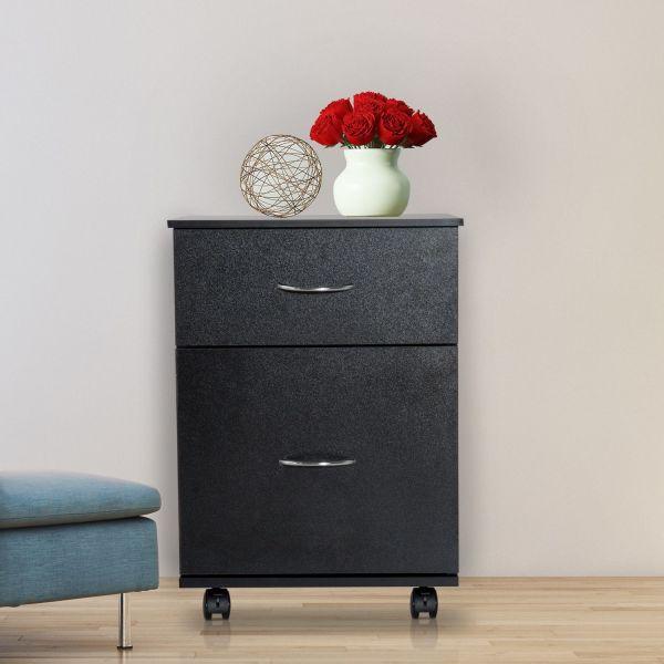 Homcom 2 Drawer Wooden Filing Cabinet