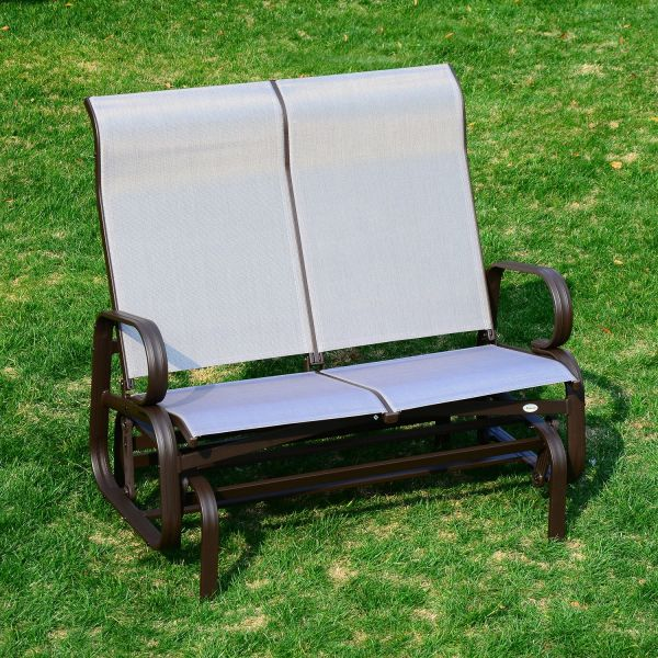 Outsunny 2-Seat Textilene Rocking Glider Bench Chair