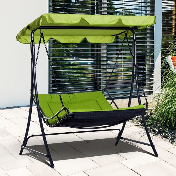 Outsunny Swing Chair Hammock Seat - Green