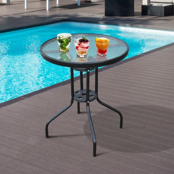 Tempered Glass Outdoor Table