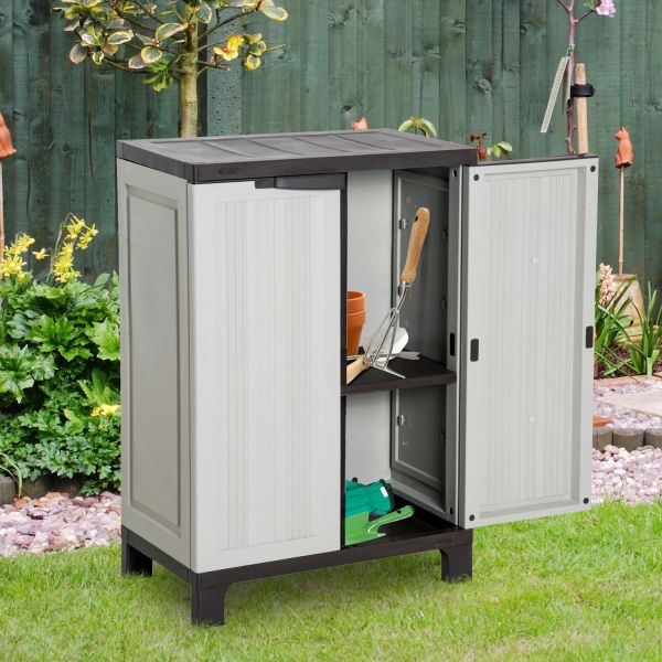 Outsunny Plastic Utility Cabinet