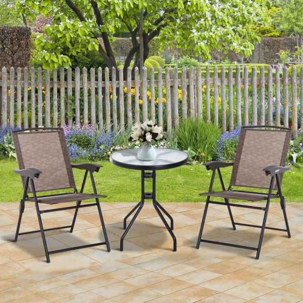 Outsunny 3 Piece Patio Furniture in Brown