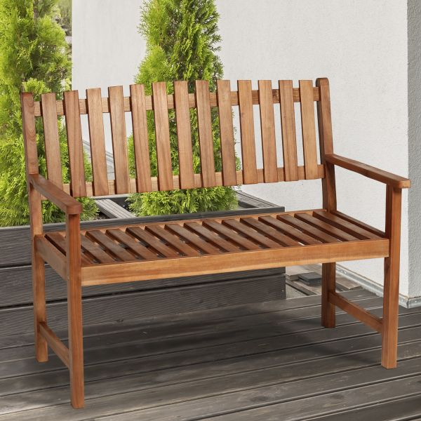 Outsunny 2-Seat Acacia Wood Garden Bench