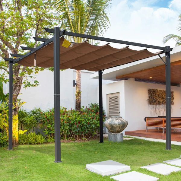 Outsunny Pergola Awning - Brown/Black