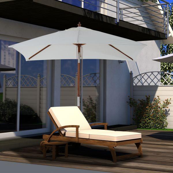 Outsunny Wood Sun Parasol Umbrella - White or Grey