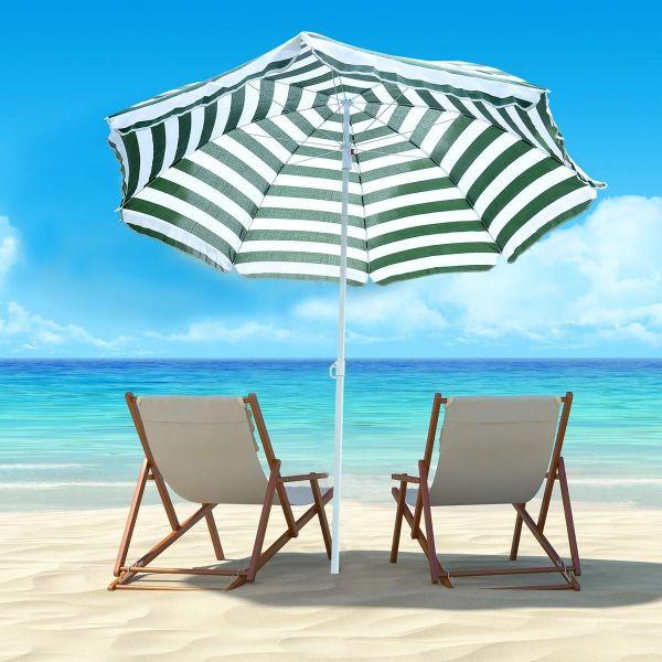 Outsunny Large 1.8m Patio Garden Beach Sun Crank Umbrella Sunshade Folding Tilt Crank Parasol