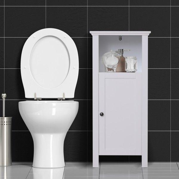 Homcom Tall Bathroom Storage Cabinet - White