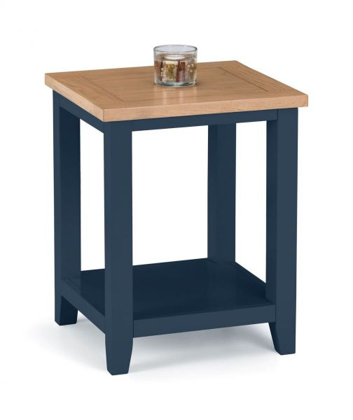 Julian Bowen Richmond Lamp Table - Midnight Blue