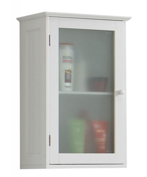 Stockholm 1-Door Bathroom Wall Storage Cabinet - White