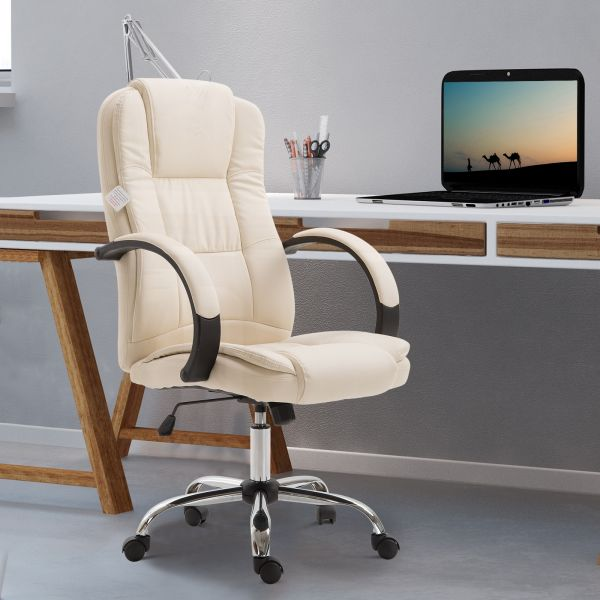 Vinsetto High Back Executive Office Chair - Beige, Black, Brown