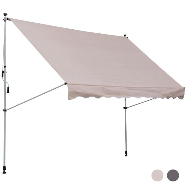 Outsunny 3x1.5m Adjustable Outdoor Aluminium Frame Awning - 2 Colours