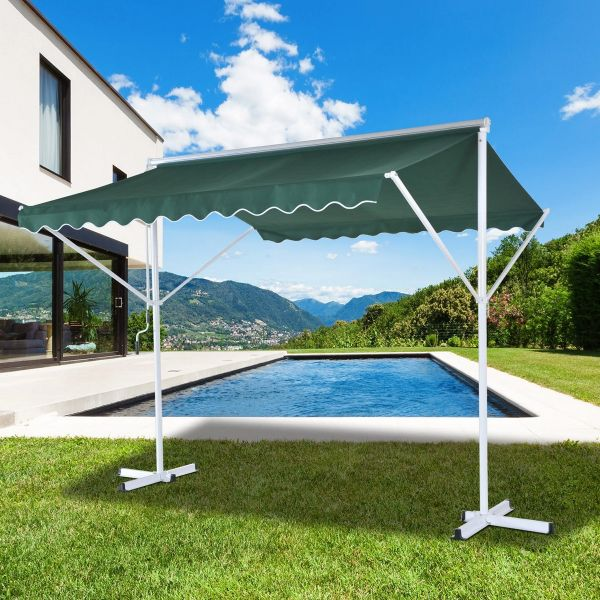 Outsunny Awning Shelter - Green/White