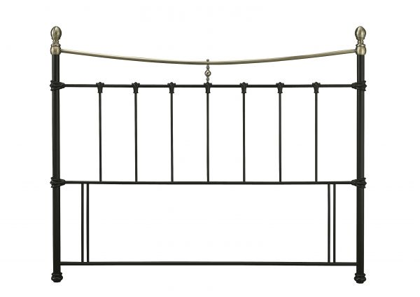 Edwardian Vintage Metal Headboard - 4 Sizes - Black or Ivory