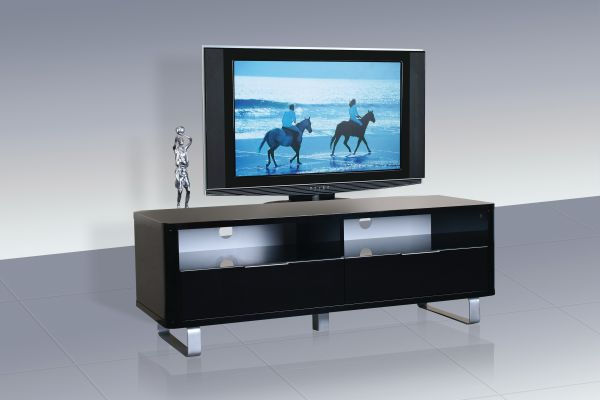 LPD Accent Gloss TV Stand Unit - Black or White