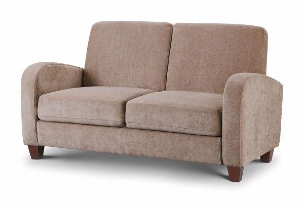 Julian Bowen Vivo Mink Chenille Fabric 2-Seat Sofa