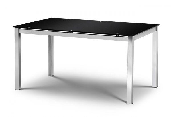 Julian Bowen Tempo Black Chrome Dining Table