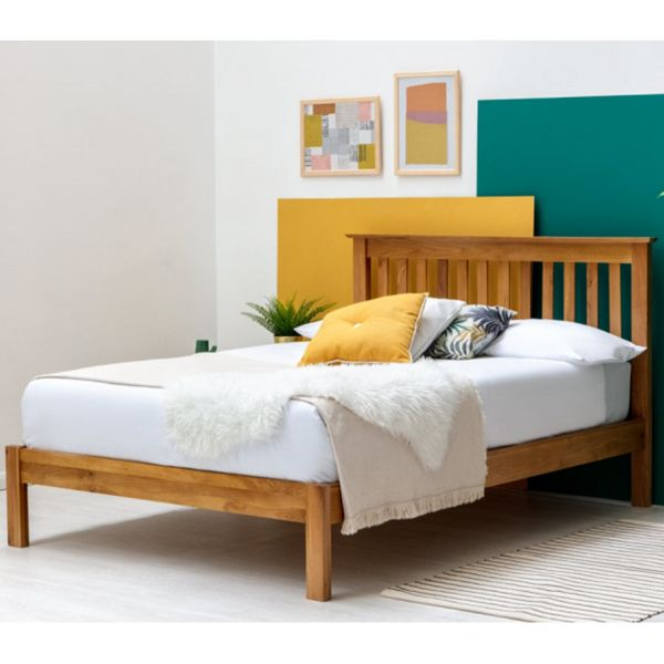 Alderley Solid Oak Farmhouse Wooden Bed Frame - 2 Sizes