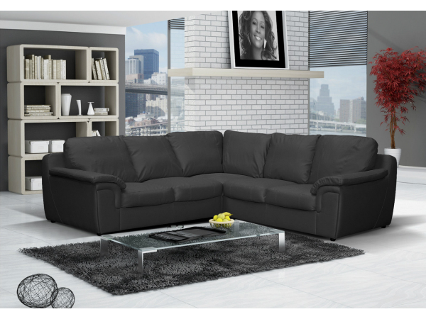 Amy Leather Corner Sofa Suite in 3 Colours