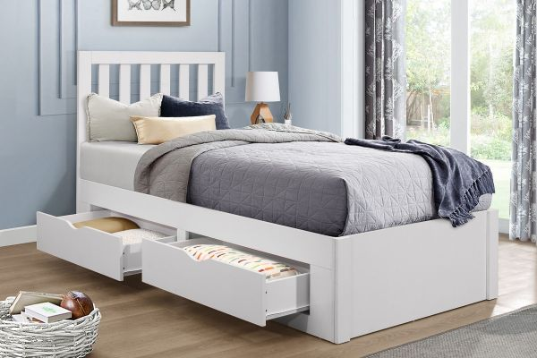 Birlea Appleby White 4-Drawer Bed