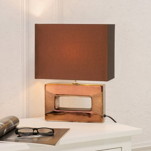 Onyx Porcelain Table Lamp - Brown or Silver