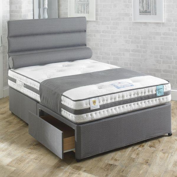 Vogue Rhapsody 1000 Pocket Gel Feel Foam Divan Bed 4FT Small Double