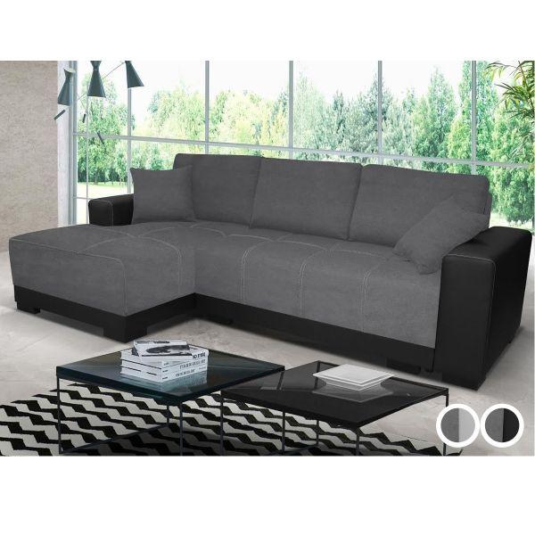 Milan Corner Sofa Bed - Black or White