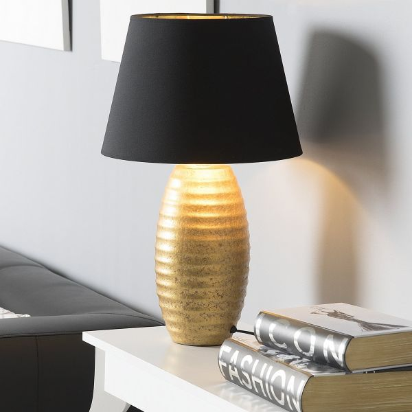 Ebra Ceramic Table Lamp - Gold or Silver