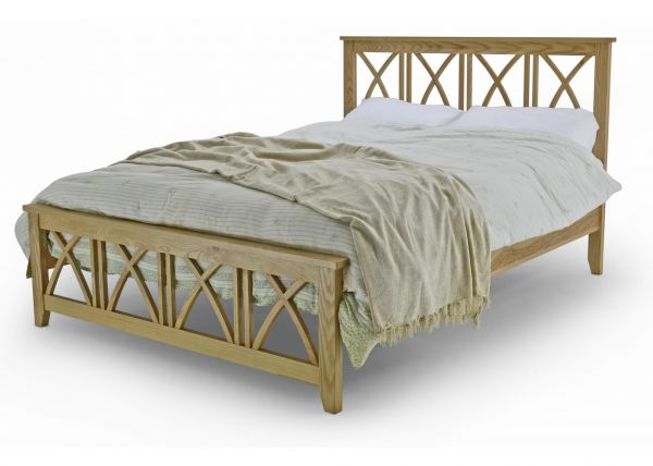 Ashfield Oak Wood Bed Frame - Double or King