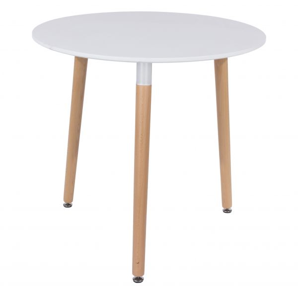 Aspen White Beech Round Dining Table
