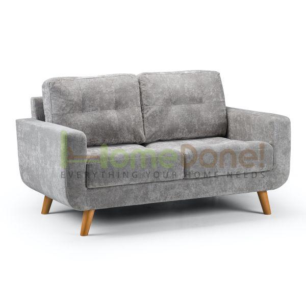 Auror Fabric 2 Seater Sofa - Grey