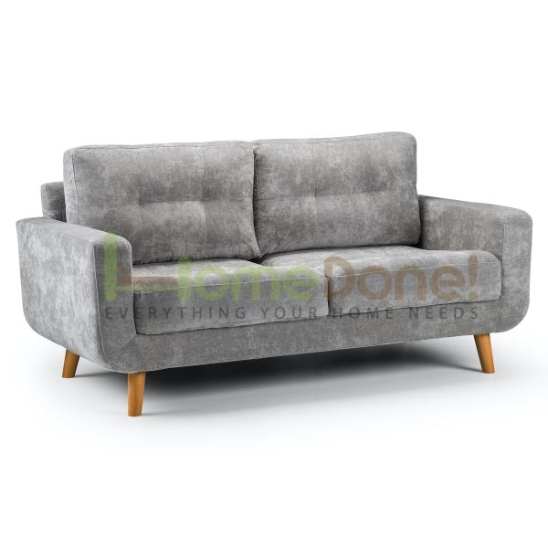 Auror Fabric 3 Seater Sofa - Grey