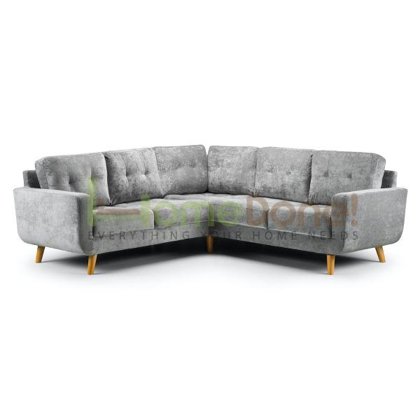 Auror Fabric Large Corner Sofa - Grey