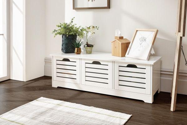 Bergen Low 3-Door Storage Unit - White or Grey