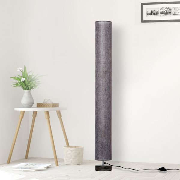 Homcom Tall Wooden Linen Shade Floor Lamp - Cream or Grey