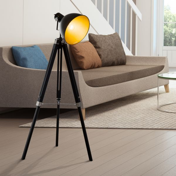 Studio Tripod Lamp (Black and Gold/ Black and White)