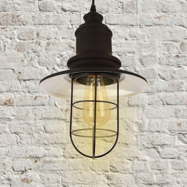 Homcom Vintage Metal Pendant Ceiling Lamp - Black