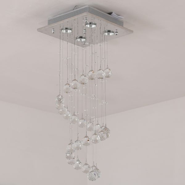 Modern Square Crystal Ceiling Lamp